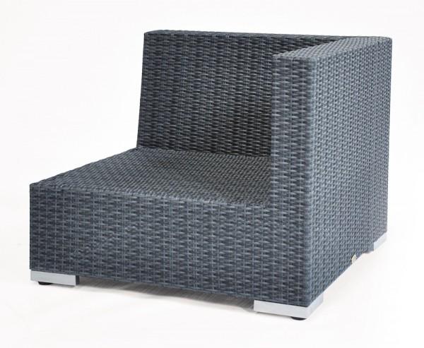 Sonnenpartner Lounge-Eckmodul Residence, Aluminium / Kunststoffgeflecht graphit-schwarz
