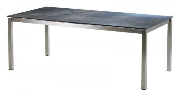 Diamond Garden Tisch San Marino, Edelstahl/Anthrazit Titan, 198 x 98 cm