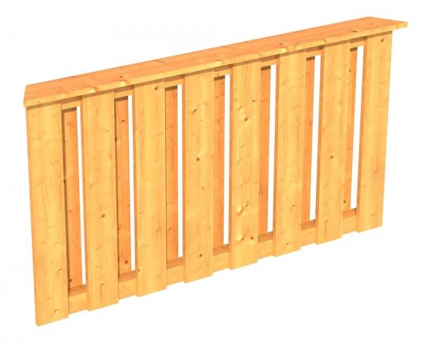 Skan Holz Brüstung 150 x 84 cm, Deckelschalung, für Pavillon Colmar Größe 2