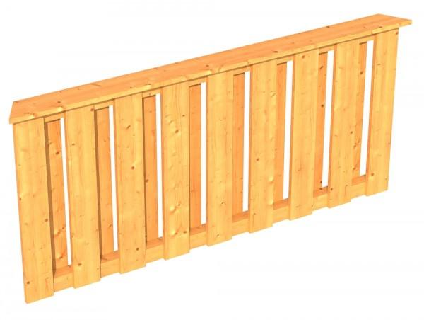 Skan Holz Brüstung 180 x 84 cm, Deckelschalung, für Pavillon Colmar Größe 3