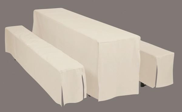 Doppler Hussenset für Festzeltgarnituren mit Tischbreite 50 cm, natur