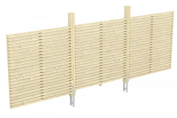 Skan Holz Rhombus-Rückwand für Carport Spessart, 550 x 160 cm