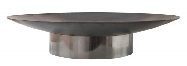 SvenskaV Design Feuerschale Grace, Größe M, Basis Edelstahl / Schale Stahl, Ø 58 cm