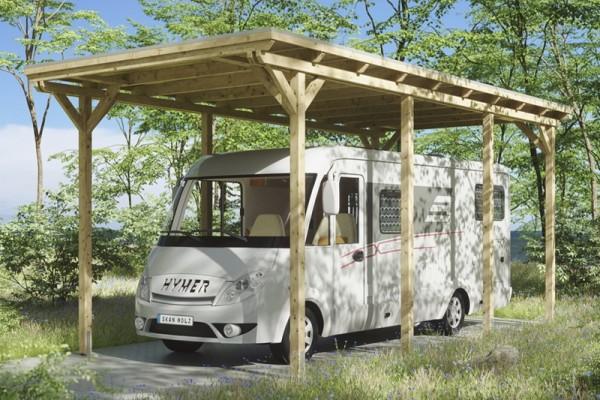 Skan Holz Caravan Carport Emsland, Leimholz, 404 x 846 cm