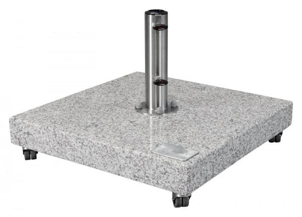 Doppler Granitplatte mit Standrohr, rollbar, 140 kg