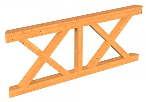 Skan Holz Brüstung 180 x 84 cm, Andreaskreuz, für Pavillon Lyon Größe 3