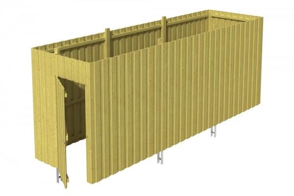 Skan Holz Abstellraum A5, impr. Nadelholz, Deckelschalung, 573 x 164 cm