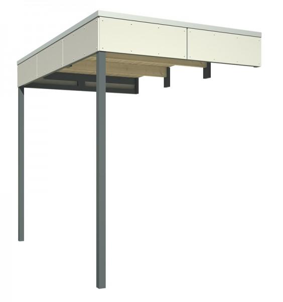 Skan Holz seitliche Überdachung für CrossCube Größe 3 + 4, 168 x 253 cm, telegrau