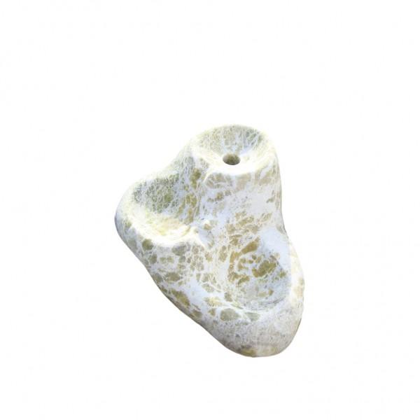 Marmor Kaskade / Wasserspiel, mini, weiss-grün