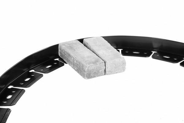 12er Set Orlando bric-edge PVC Randbegrenzung, flexibel, schwarz, Stärke 3 mm, á L 229 x H 5,1 cm