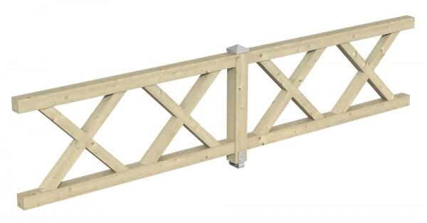 Skan Holz Brüstung 400 x 84 cm, Andreaskreuz, für Pavillons Cannes und Orleans Größe 3