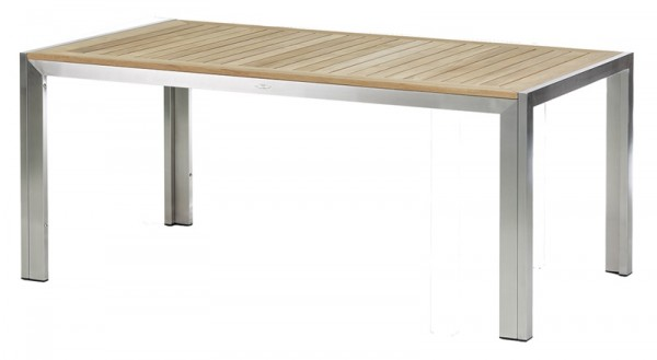 Diamond Garden Tisch Siena, Edelstahl/Premium Teak, 180 x 90 cm