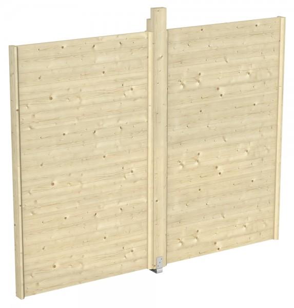 Skan Holz Seitenwand für Pavillon Toulouse 270 x 209 cm, Konstruktionsvollholz