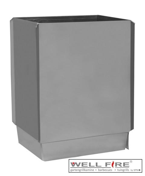 Wellfire Kaminverlängerung / Haubenverlängerung Toskana Edelstahl, 30 cm