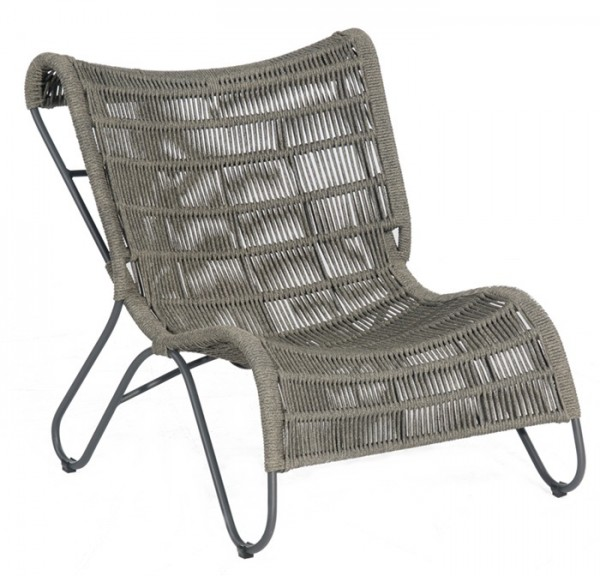 Sonnenpartner Lounge-Comfort-Sessel Ritz, Aluminium / Kunststoffrundgeflecht Polyrope grau