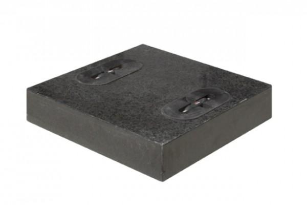 Doppler 2er Set Design Granit Platten für Schirmständer, á 55 kg, 50 x 50 cm