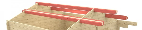 Skan Holz Schneelasterhöhung für Gartenhaus Malaga 340 x 300 cm