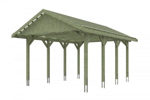 Skan Holz Satteldach-Carport Wallgau 430 x 600 cm, imprägniert