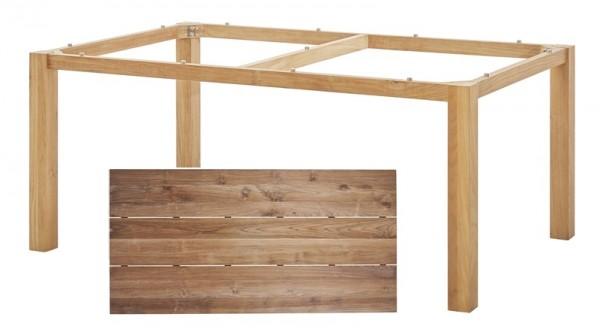 Diamond Garden Tisch San Marino, Premium Teak Natur/3 Planken, Recycled Teak Natur, 200 x 100 cm