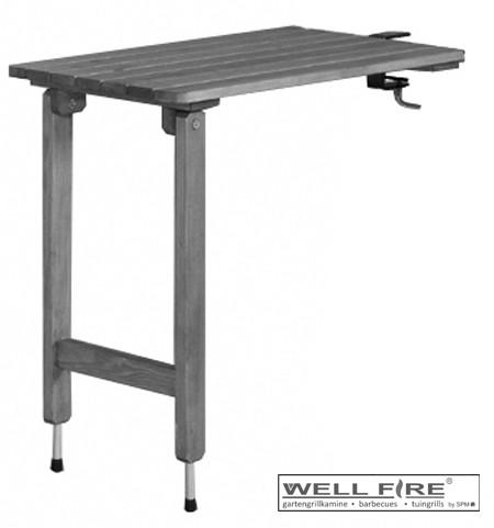 Wellfire Abstelltisch für gerade Simsplatten, 70 x 45 cm, grau