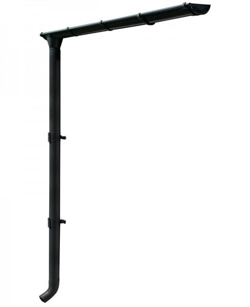 Skan Holz Metall-Regenrinnen-Set für CrossCube Größe 2 + 3, 251 cm, anthrazit