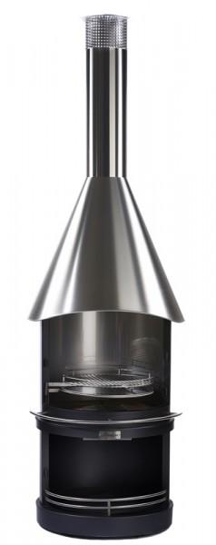 Firestar Edelstahl Grillkamin / Gartenkamin DN 800 Design, Ø 80 cm