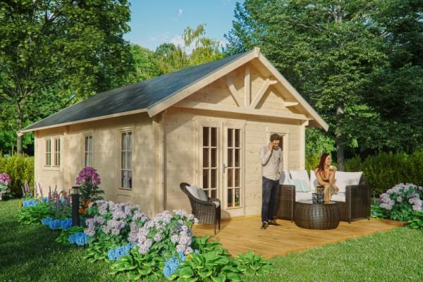 Abgebildete Gartenmöbel und Dekorationen nicht im Lieferumfang enthalten.