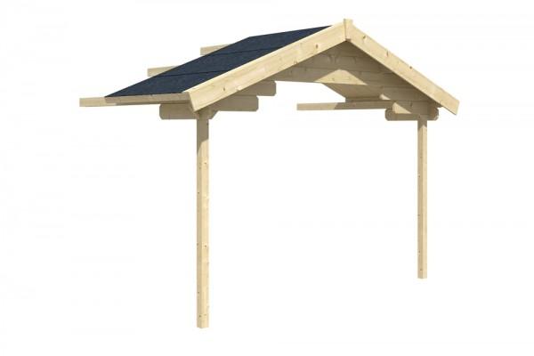 Skan Holz Vordach-Verlängerung 380 x 200 cm, passend für Modell Stavanger und Trondheim
