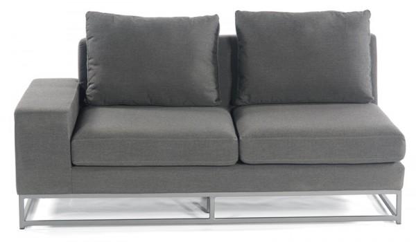 Sonnenpartner Lounge-Eckmodul Unique, 2-Sitzer links, Aluminium / Outdoor-Textil