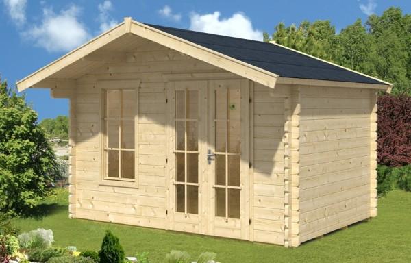 Skan Holz Gartenhaus Langesund 2, 340 x 300 cm, 45 mm, unbehandelt