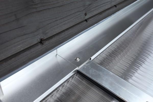 Skan Holz Wandabschlussprofil-Set für Terrassenüberdachungen in 434 cm Breite