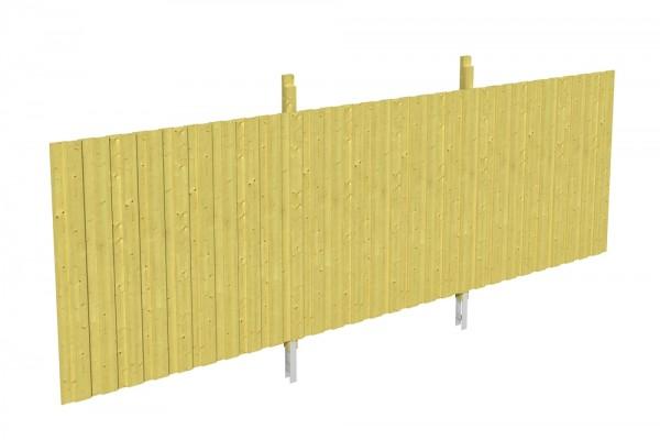 Skan Holz Rückwand 550 x 200 cm, Deckelschalung, imprägniertes Nadelholz