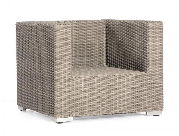 Sonnenpartner Lounge-Sessel Residence, Aluminium / Kunststoffgeflecht stone-grey