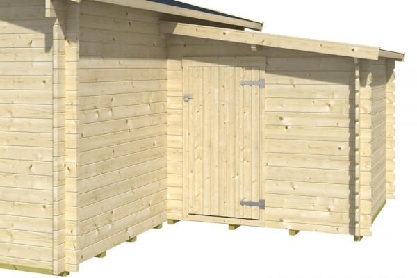 Skan Holz Anbauschuppen 2, Außenmaß 200 x 200 cm, für 45plus/70plus Gartenhaus
