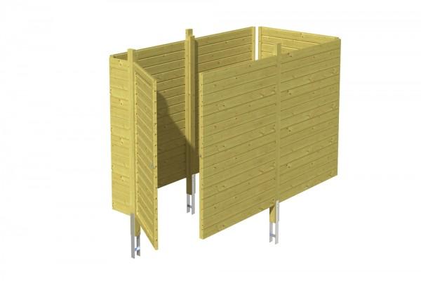 Skan Holz Abstellraum C1, impr. Nadelholz, Profilschalung, 314 x 164 cm