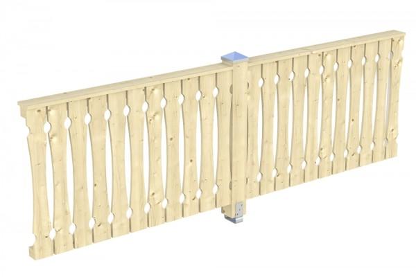 Skan Holz Seitenwand 305 x 96 cm, Balkonschalung, für Leimholz-Terrassenüberdachungen