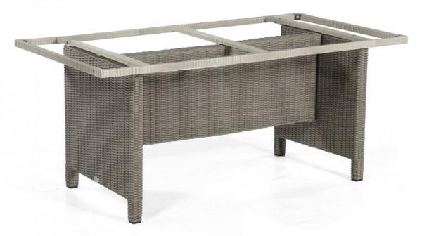Sonnenpartner Tisch Base-Polyrattan, Kunststoffgeflecht stone-grey, 160 x 90 cm