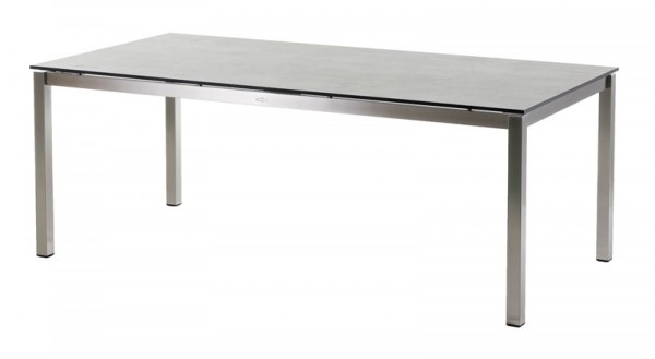 Diamond Garden Tisch San Marino, Edelstahl/Schalbrett Beton, 200 x 100 cm
