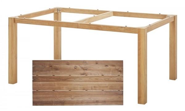 Diamond Garden Tisch San Marino, Premium Teak Natur/3 Planken, Recycled Teak Natur, 160 x 100 cm