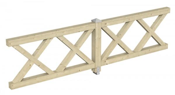Skan Holz Brüstung 335 x 84 cm, Andreaskreuz, für Pavillons Cannes und Orleans Größe 2