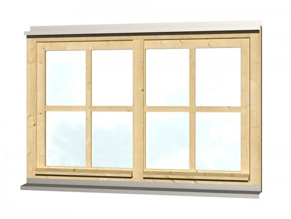 Skan Holz Doppelfenster 132,4 x 82,1 cm, Fichte