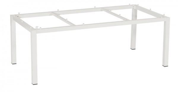 Sonnenpartner Tisch Base, Aluminium weiß, 200 x 100 cm