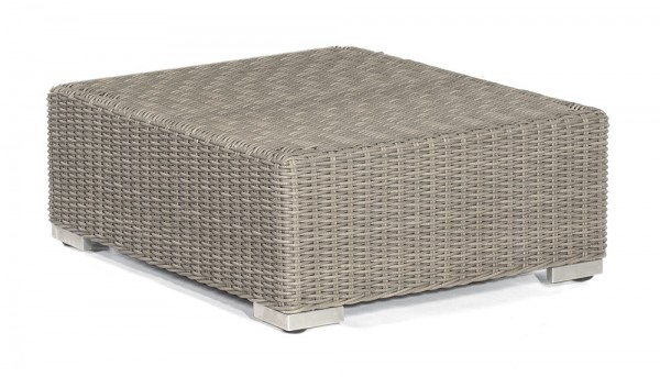 Sonnenpartner Lounge-Hocker Residence, Kunststoffgeflecht, stone-grey