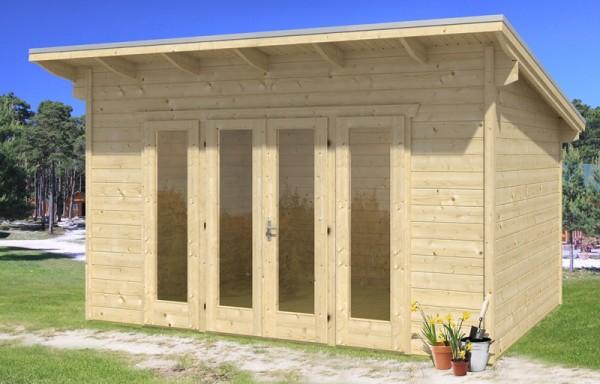 Skan Holz Gartenhaus Ostende 2, 400 x 300 cm, 28 mm, unbehandelt