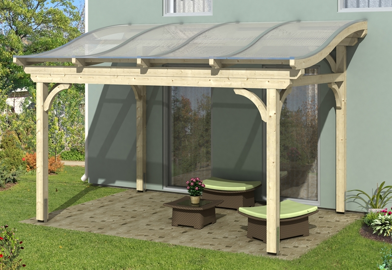 skan holz terrassen berdachung florenz 434 x 289 cm freistehend leimholz doppelstegplatten. Black Bedroom Furniture Sets. Home Design Ideas