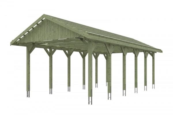 Skan Holz Satteldach-Carport Wallgau 430 x 900 cm, imprägniert