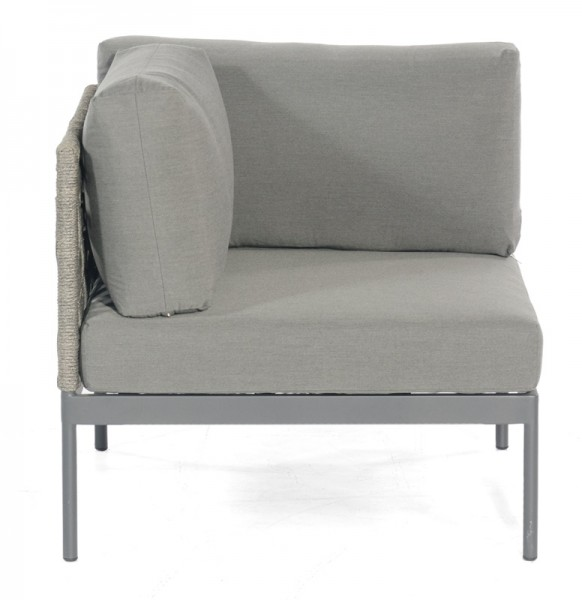 Sonnenpartner Lounge-Eckmodul Vogue, Kunststoffrundgeflecht Polyrope, grau