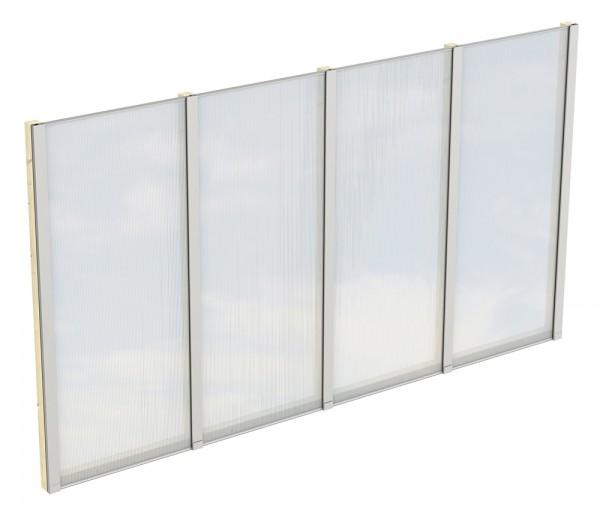 Skan Holz Polycarbonat-Seitenwand 343 x 200 cm, für freistehende Leimholz-Terrassenüberdachungen