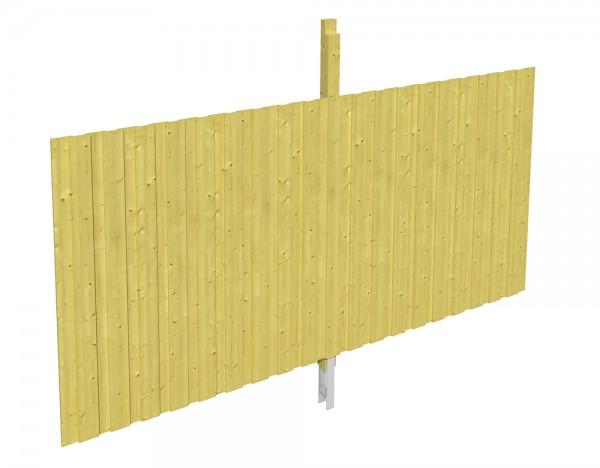 Skan Holz Rückwand 355 x 180 cm, Deckelschalung, imprägniertes Nadelholz