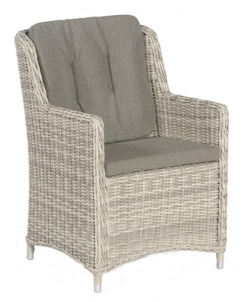 Sonnenpartner Sessel Avatar, Kunststoffgeflecht white-coral inkl. Sitz- und Rückenkissen